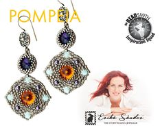 Pompeia earrings instant dowload for the pdf instructions