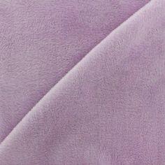 Tissu sweat envers minkee lilas x 10cm