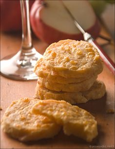 Savory Cheddar Biscuits - cheesy coins with a hint of cayenne.