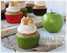 Apple Pie Cupcakes by Lauren Kapeluck  |  TheCakeBlog.com