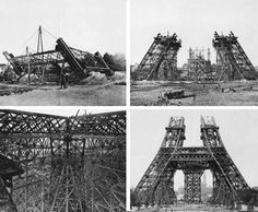 wonder if piers went under this....of course they did! Construction of the Eiffel Tower