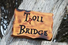 Once Upon a Time Inspired Sign, Troll Bridge sign, Storybrooke, Enchanted Forest Troll Bridge, Snow White and Prince Charming, Gift for Her by TheJollyGeppetto on Etsy