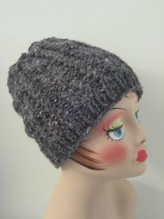 Twisted Rib Hat Balls to the Walls Knits, A collection of free one- and two- skein knitting patterns