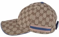 10cd9e89552 NEW Gucci Men's 200043 Beige Blue GG Guccissima Web Stripe Baseball Cap Hat  S Gucci Mannen