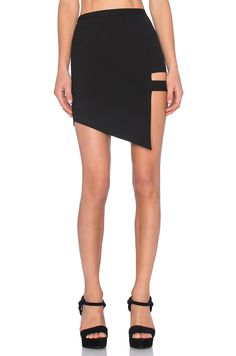 Mason by Michelle Mason Cage Skirt in Black