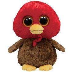 TY Beanie Boos - GOBBLES the Turkey ( Beanie Baby Size - 6 inch )