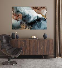 Large Canvas Art, Canvas Art Prints, Scandinavian Art, Living Room Interior, Abstract Art, Tapestry, Artist, Painting, Alcohol Inks