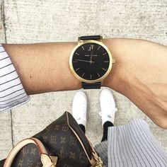 John Taylor watch Black and Gold alongside the LV