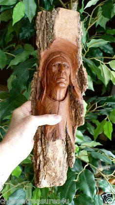 Native American Indian handcarved wall plaque. Excellent for cottage, home decor, gifts.