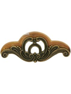 """Waterfall Cabinet Pull with Bakelite Accents - 4 1/2"""" Center-to-Center 