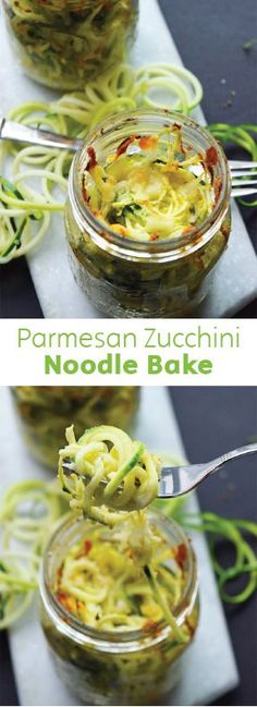Mason jar meals make transporting your lunch or dinner to work a snap! These 5-ingredient Parmesan Zucchini Noodle Bakes in a Jar take a mere 5 minutes to prepare, leaving you with a healthy, low-carb, and delicious meal that is easy to take most anywhere.