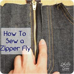 How to sew a zipper fly #tutorial
