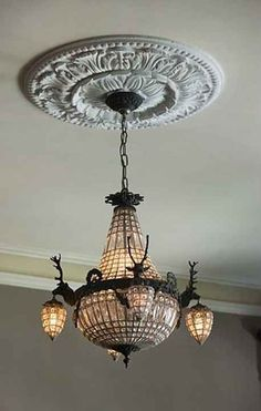 1886 Victorian home. Love this chandelier
