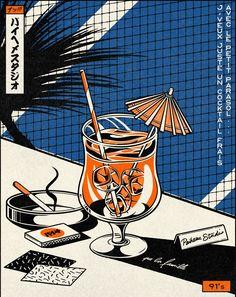 """PAIHEME STUDIO - Inspired by the last PNL's song """"91's"""". #paiheme #paihemestudio #japan #japanesegraphicdesign #vintagegraphics #illustrator #letteringart #vintageart #caen #typography #graphicart #vintage #retro #japaneseart"""
