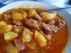 patatas a la riojana en 10 minutos Side Dishes, Pork, Sweet, Ethnic Recipes, Gastronomia, Spanish Food, Legumes, Deserts, Micro Kitchen
