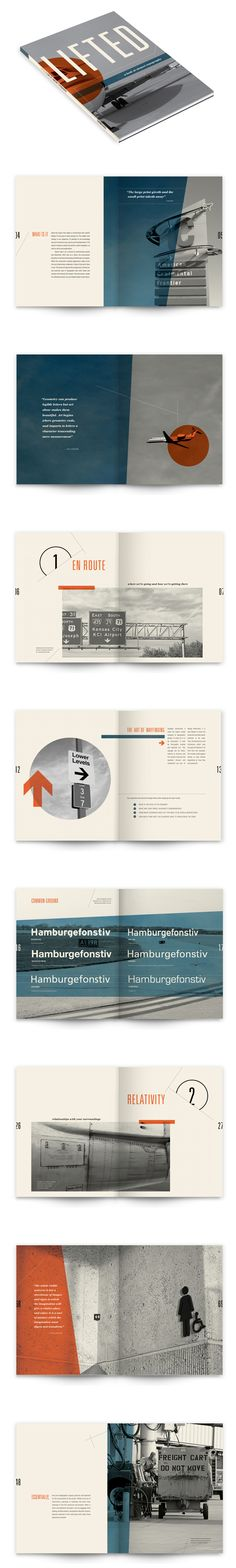 Lifted: A Look at Airport Typography #book #print #brochure