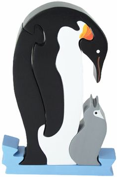 Penguin and Chick Wooden Puzzle - Wood Woodworking Jigsaw, Woodworking Projects, Wooden Crafts, Wooden Diy, Animal Projects, Wood Projects, 3d Puzzel, Best Jigsaw, Making Wooden Toys