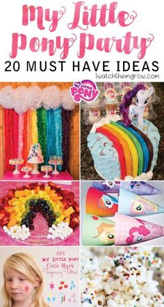 Lots of really great My Little Pony party ideas - especially for those planning on a budget!