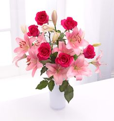 Pink Lily & Rose Bouquet - £44.99