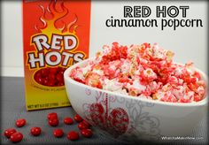 RED HOT Cinnamon Popcorn - all you need is a little water and red hots ...