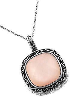 Pink rock pendant necklace. #pretty