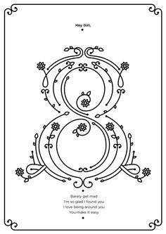 8 #numerals #typography