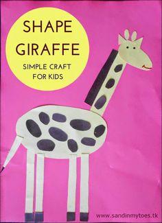 Shape Giraffe - Basic shapes craft for kids