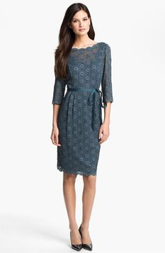 Alex Evenings Embellished Lace Overlay Dress available at Nordstrom $145.  ugly colors.  nice style with the scallops.