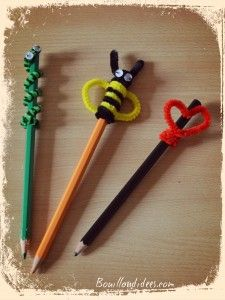 DIY spécial Rentrée des classes :  Customiser vos embouts de crayons (animaux en cure-pipes)