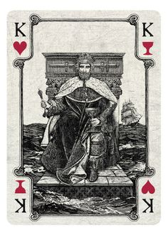 Arcana Playing Cards by Chris Ovdiyenko --- Kickstarter. Playing cards inspired by the Tarot. Arcana is a new deck of custom hand-drawn playing cards printed by USPCC. King of Hearts/Cups reimagined. An incredibly original, amazing deck of cards! GET YOURS NOW ON KICKSTARTER.