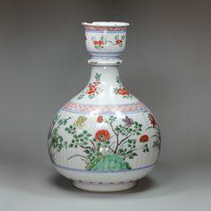 Antique Chinese porcelain famille verte hookah pipe base, Kangxi (1662-1722), | eBay
