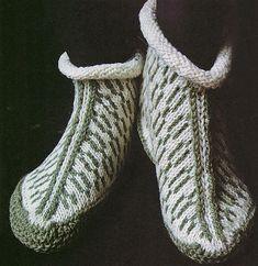 """Ravelry: Garter Sole Slippers pattern by Elizabeth Zimmermann In """"knit one knit all""""..."""