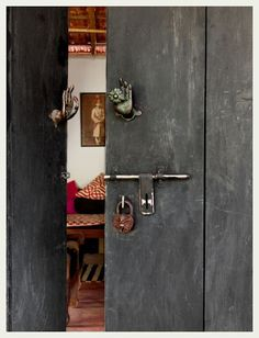 An Indian Summer: Love the door knobs and the lock