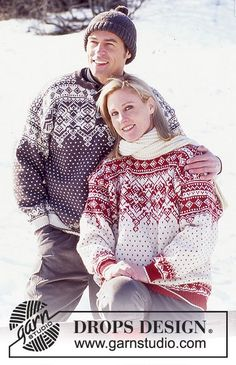 Endless Winter - Pull-Over en Karsima Classic - Free pattern by DROPS Design Fair Isle Knitting Patterns, Fair Isle Pattern, Sweater Knitting Patterns, Knit Patterns, Free Knitting, Crochet For Kids, Knit Crochet, Jersey Jacquard, Drops Design