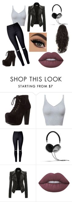 """""""Untitled #142"""" by janaebb on Polyvore featuring Charlotte Russe, Frends and Lime Crime"""