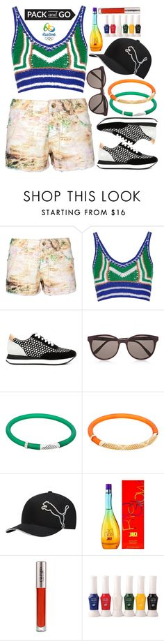 """""""Pack and Go: Rio"""" by deedee-pekarik ❤ liked on Polyvore featuring Topshop, Loeffler Randall, Prism, Sho, Puma, Jennifer Lopez, CARGO, Opening Ceremony, rio and riodejaneiro"""