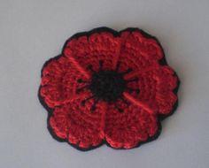 Crochet Cute: Free Pattern - Crocheted Poppy Flower Coasters love this idea Crochet Poppy Free Pattern, Crochet Coaster Pattern, Crochet Motif, Crochet Yarn, Irish Crochet, Doilies Crochet, Thread Crochet, Knitted Poppies, Crochet Flowers