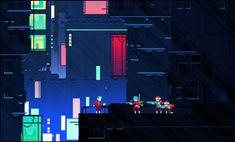 gif animation sci-fi science fiction pixel art noir cyberpunk