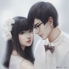 Image in Art(♥ω♥*) collection by immeizuo on We Heart It Anime Love Couple, Couple Art, Korean Art, Asian Art, Anime Fantasy, Fantasy Art, Graffiti King, Fantasy Couples, Pretty Art