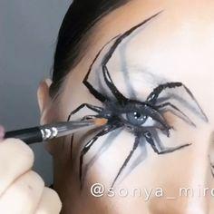 ☠HALLOWEEN SPIDER  LOOK☠ MAC ingredients- mineralize skinfinish dark DEEPEST MAC Eye Shadow x 15 Warm Neutral, eyeshadow black tied,  eyeliner BLACKTRACK, Studio Eye Gloss in Medoc @maccosmetics #halloweencostume  #halloween #halloweenmakeup #beauty #SONYAMIRO #maccosmetics #beautyblog #makeup #makeupartist #makeuptutorial #moskow #moscowcity #hudabeauty #vegasnay #facechart #москва #визажист #макияж #sonyamiroselfie #eyeliner #halloweenmakeupideas  LIGHT by @johny_wood  Voca...