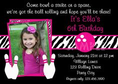 bowling birthday invites - Google Search
