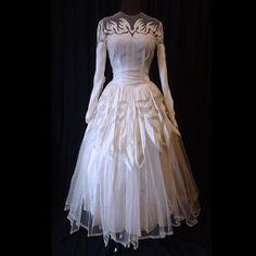 Vintage 40s Dramatic Art Noveau Velvet by wearitsatvintage on Etsy, $275.00