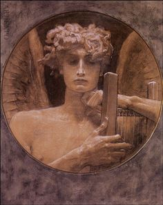 """ The mournful spirit "" by Nikolaos Gyzis Apollo Aesthetic, Aesthetic Art, Oil Pastel Colours, Oil Pastels, Greek Mythology Art, Principles Of Art, Illustration Art, Illustrations, Greek Art"