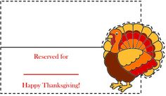 Thanksgiving Crafts: Turkey Place Card - Free Thanksgiving crafts for kids from PrimaryGames.