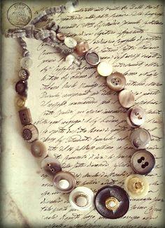 buttons necklaces, collane con bottoni