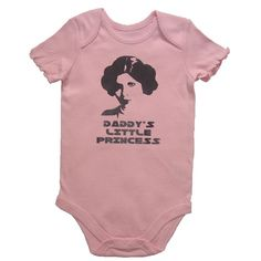 Daddy's Little Princess Leia Star Wars Onsie ($15). Where's the adult t-shirt version of this...? :-P