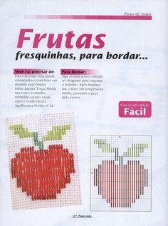 bordado de frutas em hardanger - Pesquisa Google