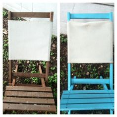 Easily spray paint any old wood chair.
