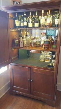DIY converted a TV hutch into a lit up liquor cabinet Check out the full project http://ift.tt/1T4H0NE Don't Forget to Like Comment and Share! - http://ift.tt/1HQJd81