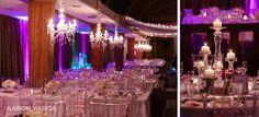 Pink purple wedding reception details   Oglebay Resort Wedding   Pittsburgh wedding photographers   Aaron Varga Photography